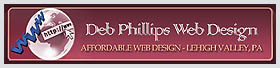 Logo & Link to Deb Phillips Web Design